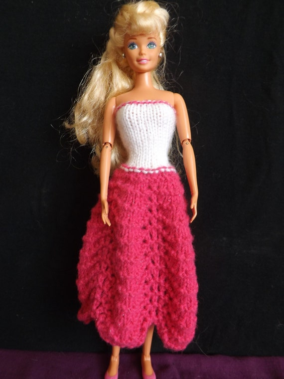 Pattern Knitted Barbie Clothes Barbie Knitting Patterns