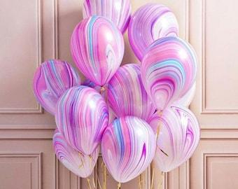 Unicorn Balloons, Baby Shower, Unicorn Party, Birthday Party, Pastel Balloons, Marble Balloons, Party Supplies, Wedding Decorations