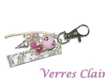 Keychain / bag pink jewellery