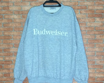 Rare!!! Vintage Budweiser King of Beers Spellout Sweatshirt Crewneck Pullover Jacket size M L