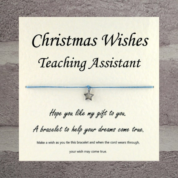 Items similar to Handmade Christmas Wishes teaching assistant ...