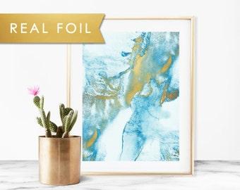 Blue Mist Real Foil Art Print 11x14, 8x10, 5x7