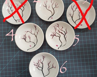 Hand painted Cherry Blossom Ring Dish - Customizable!!