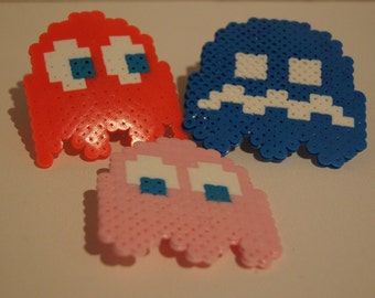 Pacman Ghost Hair Clips