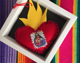 Sacred heart with escapulario