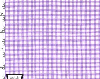 Lilac Gingham Play from Michael Miller Fabrics - Cotton Fabric