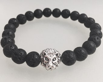 BEYLINN handmade lion head bracelet gold bracelet with turquoise beads Fashion Vintage