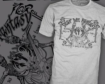 TRAFFIC Band - Mr Fantasy - Steve Windwood - 70's Rock - Skeleton Skull T-Shirt