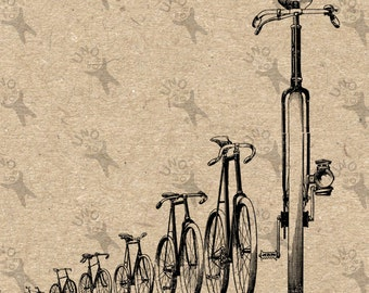 Vintage Bicycles image Instant Download printable Vintage picture clipart digital graphic for scrapbooking, burlap, stickers  etc 300dpi