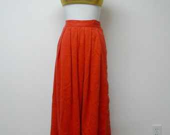 "Lizsport . red high waist skirt . small / 26"" waist"