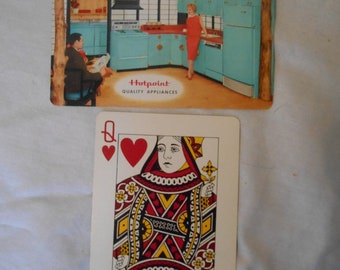 Lot of 2 Swap Playing Cards Mid-Century Modern Kitchen in Blue Fine Condition