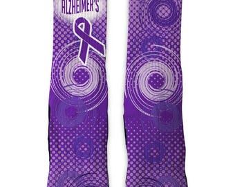 Custom Alzheimers Awareness Limited SS Athletic Socks