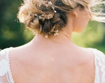 Pearl Bridal Headband Bridal Hair Halo Crystal Headband Beaded Headband Pearl Hair Halo Beaded Bridal Headband #154