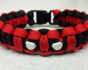 Deadpool paracord bracelet, bracelet, paracord bracelet
