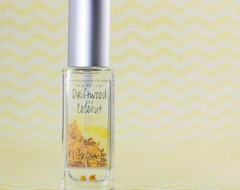 Driftwood & Coconut Perfume   Summer Inspired Fragraonce of Coconut Milk, Tonka Bean, Vanilla, and Sandalwood