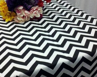 lovemyfabric Crazy About Chevron Cotton Tablecloth For Home Decor Wedding/Bridal Shower, Birthdays/Baby Shower, Dinner & Special Events