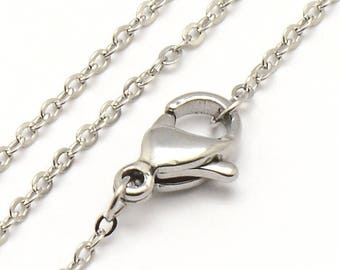"""Stainless Steel Cross Chain - 18"""""""