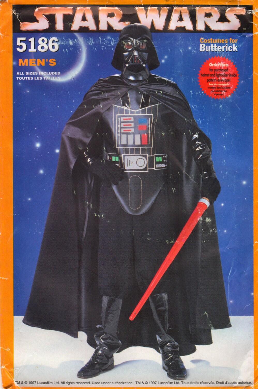 Butterick 5186 Herren DARTH VADER Kostüm Muster Star Wars