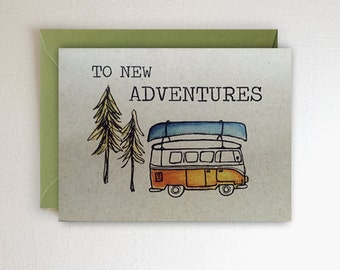 New Adventures - VW Van - Canoe + Forest