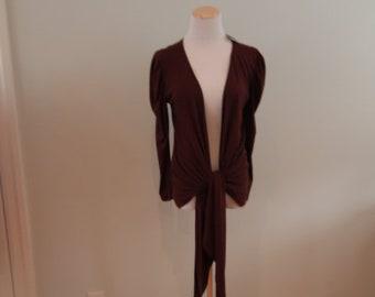 1980's Jersey Knit Wrap Cardigan