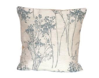 18 x 18 pillow cover, Floral cushion cover, floral fairy, retro home decor, grey home decor, neutral decor, retro cushion, retro pillow