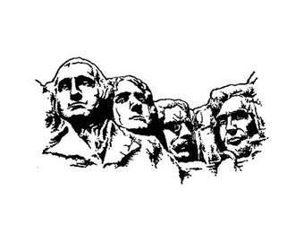 Mount Rushmore small Rubber Stamp United States Presidential Memorial