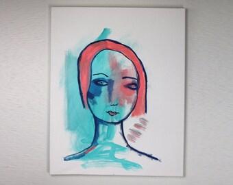 "Esmerelda in Her Simplicity - Original 16"" x 20"" Painting by Carissa Paige"
