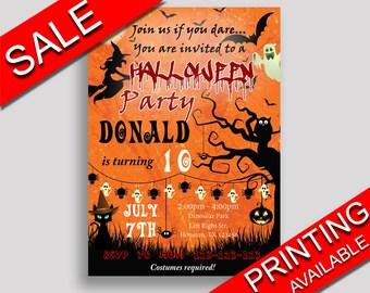 Halloween Birthday Invitation Halloween Birthday Party Invitation Halloween Birthday Party Halloween Invitation Boy Girl GPF0F