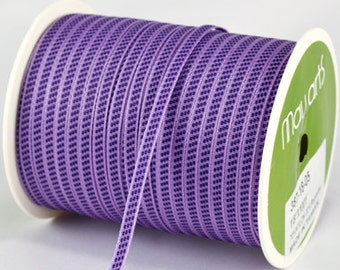 "1/8"" Lavendar/Purple Solid Center Stitches Ribbon from May Arts - 10 Yards"