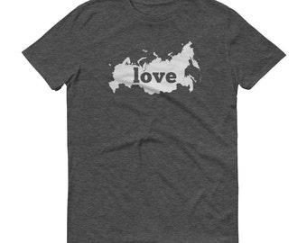 Russia, Russian Clothing, Russian Shirt, Russian T Shirt, Russian TShirt, Russia Map, Russian Gifts, Made in Russia, Russia Shirt, Love