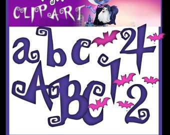 Vampirina PNG Clipart Letters Abecedary Alphabeth, Transparent Background  Upper, Lower Case, Numbers Bats Scary