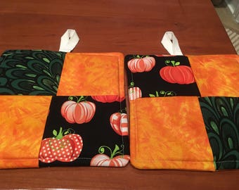 Kitchen pot holders, Hot pads, Handmade, Fabric Potholders, Housewarming, Birthday, Wedding, Cooking