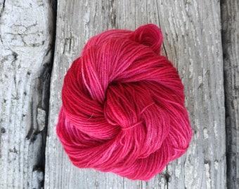 Chrisjen Sock yarn - Handdyed Fingering wool/nylon 50g skein DYED TO ORDER - tonal semi solid knitting laine teinte tricot