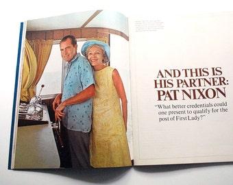 1968 Nixon Book, Political Memorabilia, Vintage Picture Book, US President Richard Nixon Yearbook, Biography History Spiro Agnew Collectible