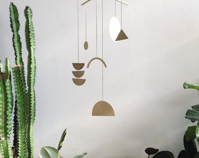 "Geometric Brass Mobile - ""Solas"" - made-to-order - 2 week turnaround time"