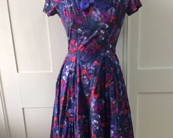 1950's Floral Dress by Tudor