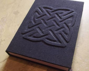 Celtic knot handbound book A6