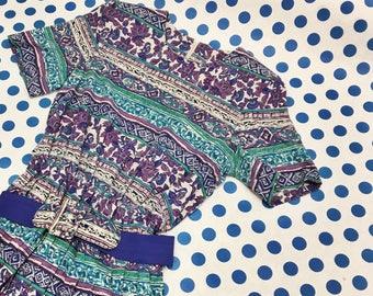 80's Southwestern Print Dress