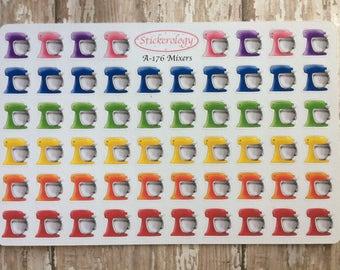 Kitchen Mixer Stickers, Baking Stickers,  A-176.