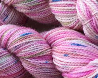 100g hand dyed Australian 8ply fine merino wool yarn - colour September