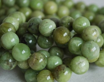"High Quality Grade A Natural Olivenite (green) Semi-precious Gemstone Round Beads - 4mm, 6mm, 8mm, 10mm sizes - 16"" strand"