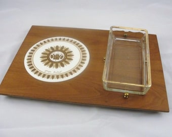 Vintage Georges Briard Regalia cheese and cracker serving tray