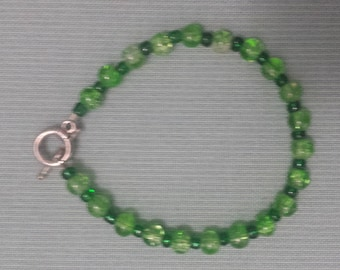 Green bracelet, St Patrick's Day, festive jewelry, simple jewelry, gifts for her, bridesmaid's gifts