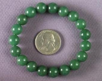 Bracelet Green Aventurine 10mm Round Beads stretch BSAN0833