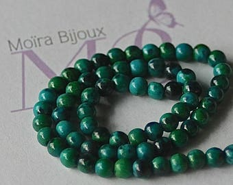 10 blue green chrysocolla from Chile 4 mm round beads