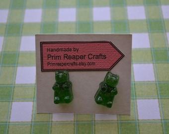 Gummy bear resin stud earrings