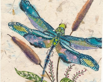 Dragonfly Painting, Watercolor Painting, Watercolor Paintings, Dragonfly Art, Watercolor batik, Dragonfly Prints