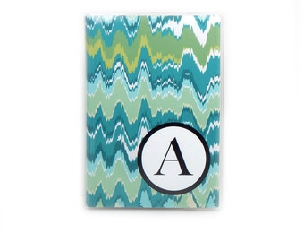 Personalized Passport cover -Malachite Marbled - choose your initial - turquoise and green marbled passport holder - travel accessory