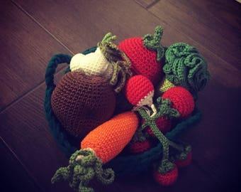 Amigurumi Vegetable Basket