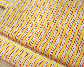 Yellow striped Nagoya obi, yellow Japanese obi, red white yellow silk obi belt, vintage obi stripes, modern kimono wafuku, kimono hime rock